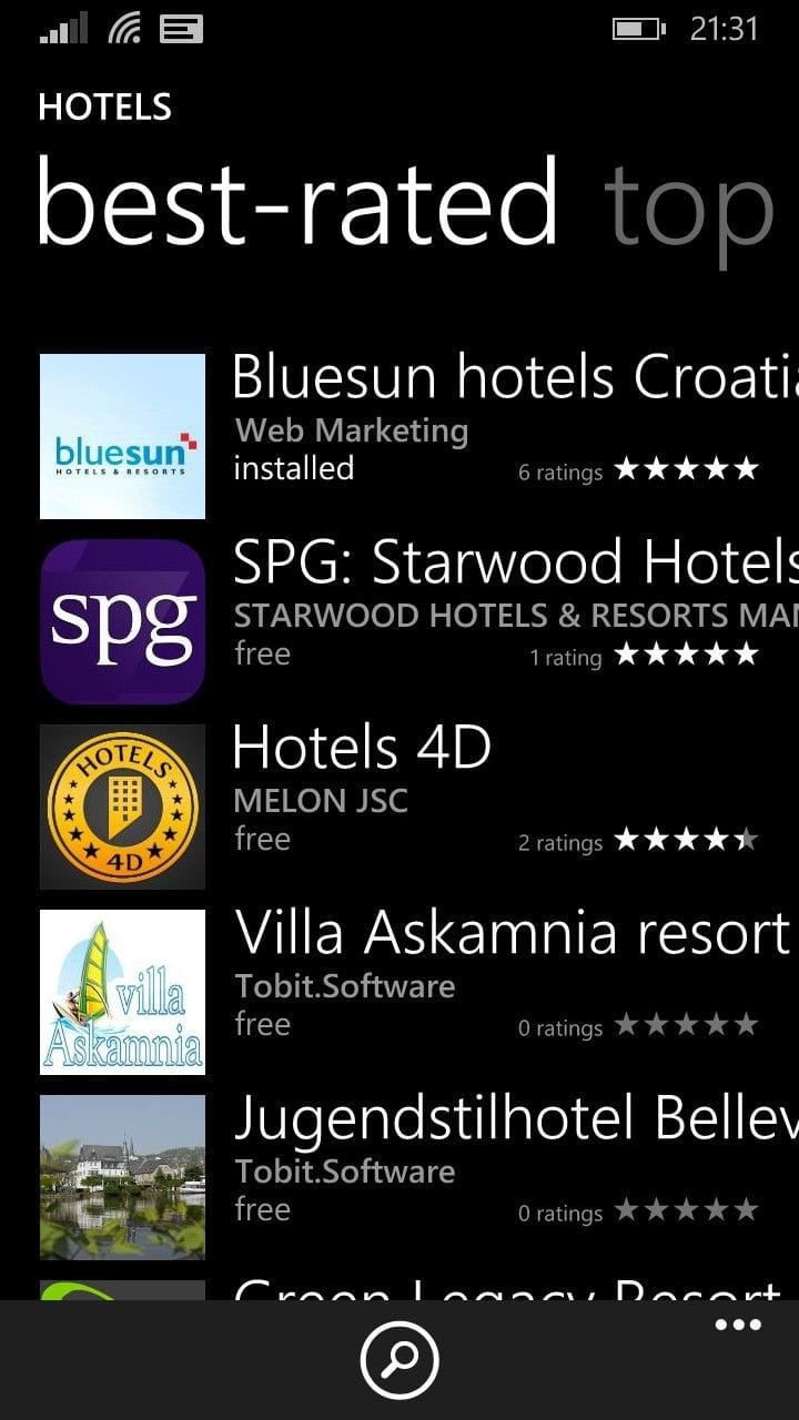 best rated windows no1 ranking in its category what better proof that the bluesun mobile app is user friendly and very much favored by windows users ranks hotels resorts top bestrated apps