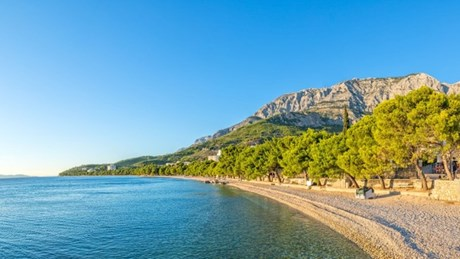 4 km long Tučepi beach, Makarska, Croatia