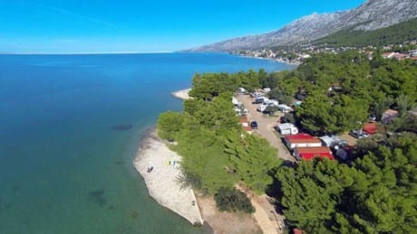 Aerial view of the Paklenica Campsite