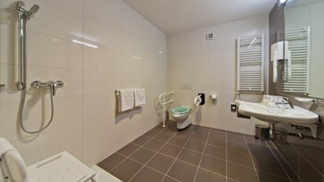 Wheelchair-friendly bathroom