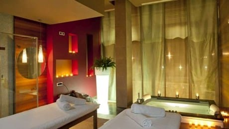 Spa treatment room for couples