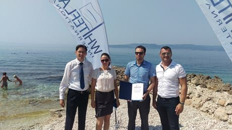 Brela awarded with 2 White Flags for sea purity